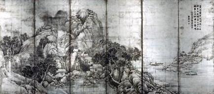 与謝蕪村「山水図屏風」200329