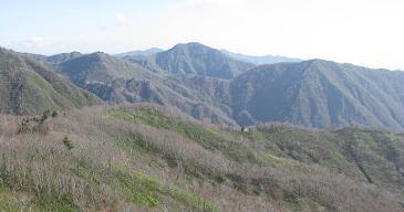 縦走路と大日岳211108