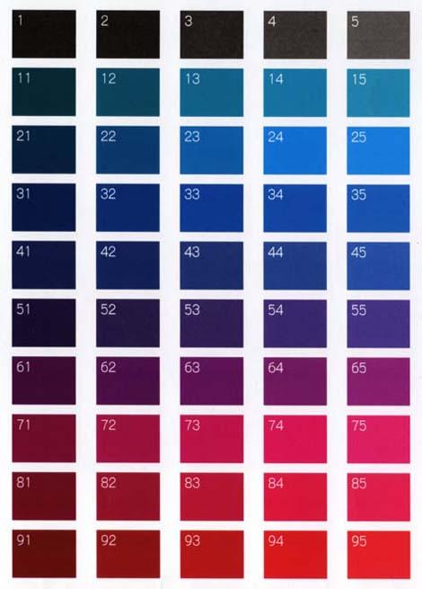 シール カラー印刷  色見本