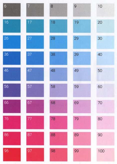 シール カラー印刷  色見本2