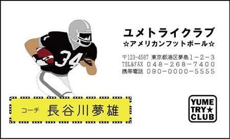アメリカンフットボール名刺 DS-10