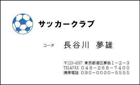 サッカー名刺 DS-12