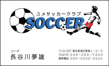 サッカー名刺 DS-13