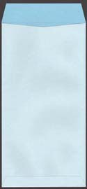 透けない封筒 Wパステルブルー裏面