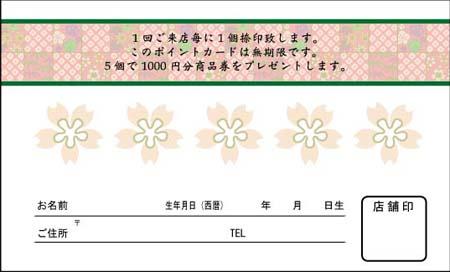 ポイントカード PCU-06