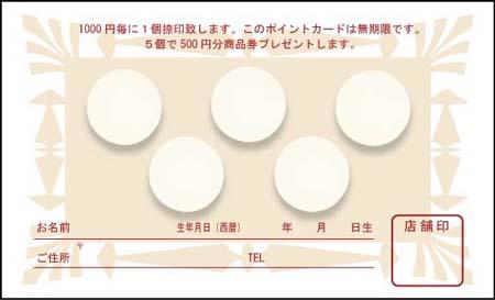 ポイントカード PCU-07