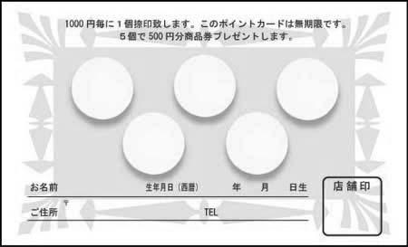 ポイントカード PCU-07B