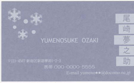カラー名刺台紙 アクア 5