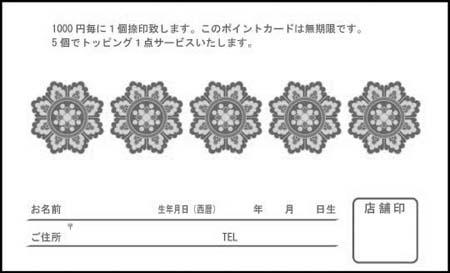 ポイントカード PCU-12B
