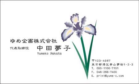 花イラスト名刺 HB-19