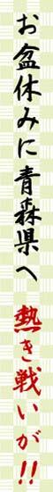 お盆休みは青森県へ 熱い戦いが!!