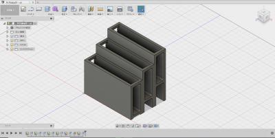 サプリホルダー(3DCAD)