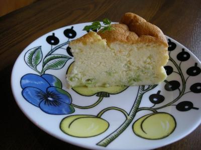 枝豆チーズケーキ完成