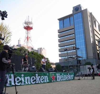 茨木音楽祭メインステージごしの市役所