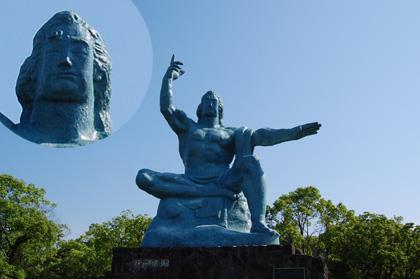 平和記念公園の藤岡弘