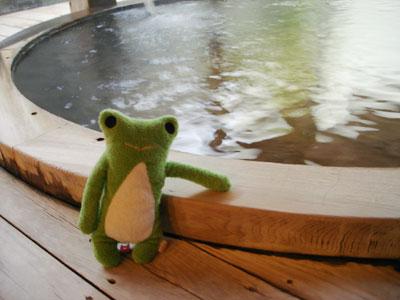 カエルと温泉