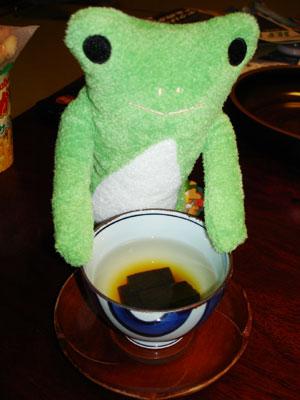 カエルと昆布茶