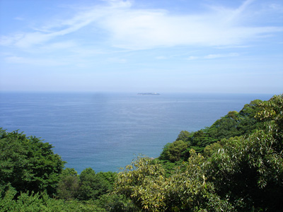 熱海の海と初島
