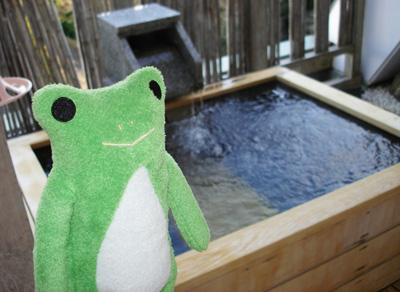 けろーにょさんと貸切露天風呂