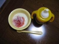 イチゴソースのハイハイ粥