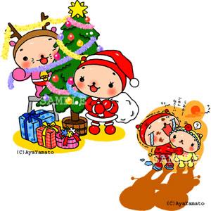 子供向けイラスト+絵本 クリスマス