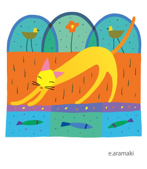 猫 イラスト 癒し ほのぼの 温か