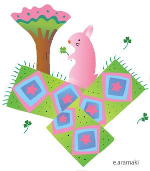 ウサギ イラスト 年賀状 カレンダー 癒し ほのぼの 温か
