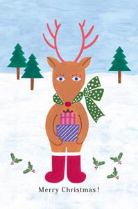 クリスマス トナカイ 2D+POPなイラスト