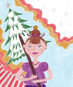 クリスマスツリー 2D+POPなイラスト