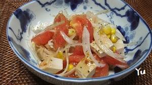 鶏の照り焼き・トマト・玉ねぎ