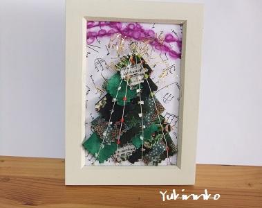 フレーム入りクリスマスツリー