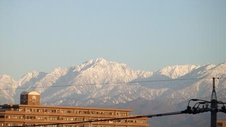 夕日の劔岳