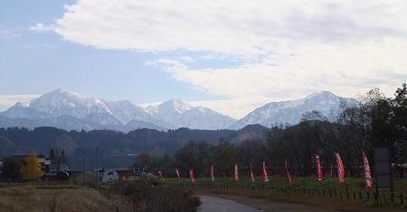 越後の山々