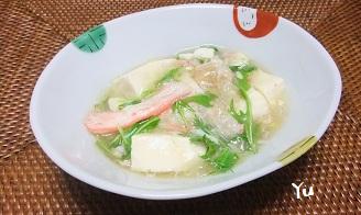 カニと豆腐