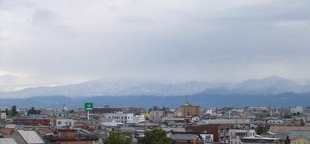立山連峰の裾野