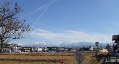 立山連峰を見ながら