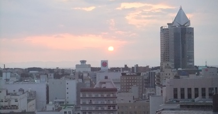 新潟の夕日
