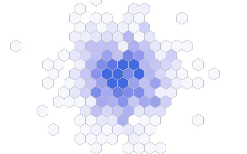 D3 js で六角形を描く (hexbin) その3 | Agata's Blog