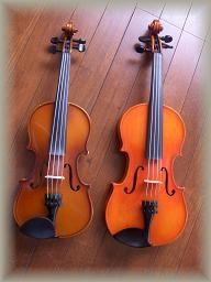 バイオリン大きさ比べ