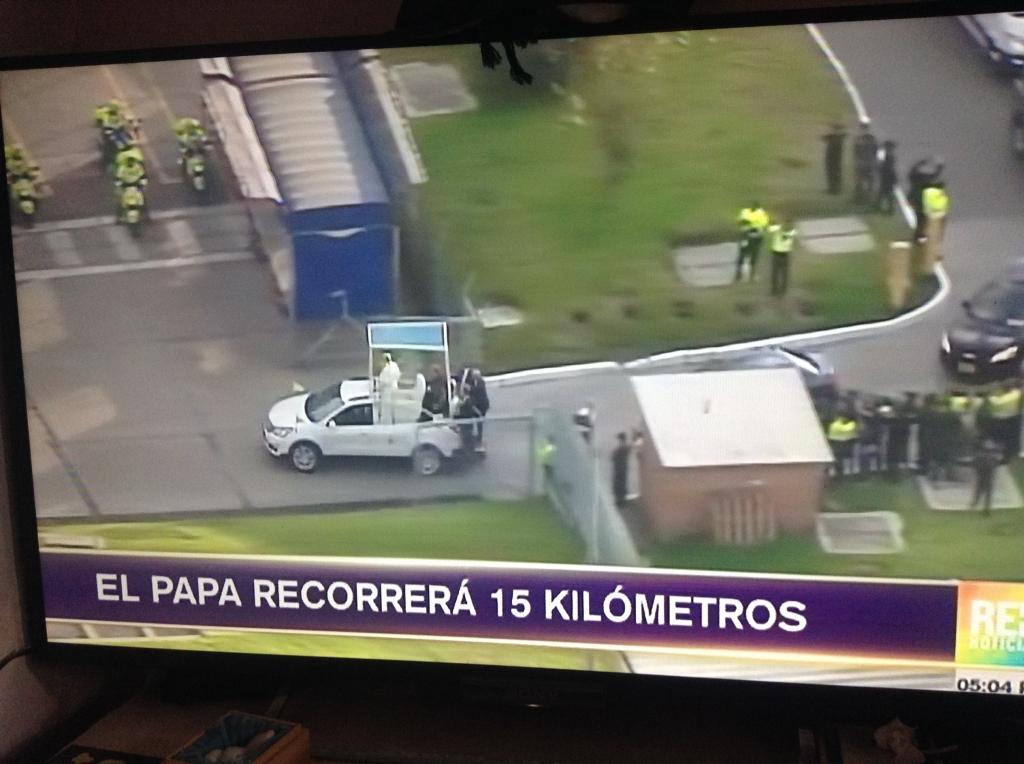 ローマ法王コロンビア訪問