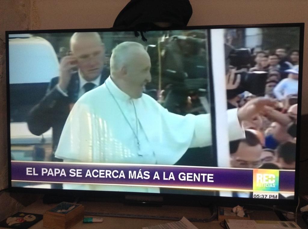 ローマ法王コロンビア訪問1