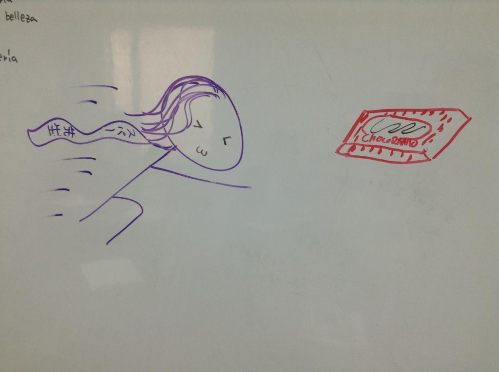 日本語の先生の絵