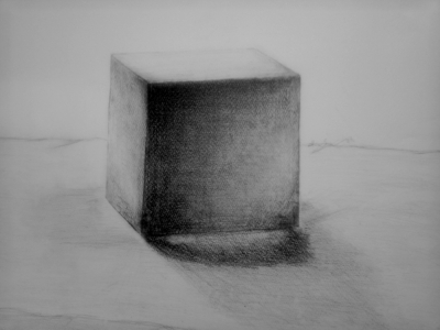 デッサン講座1作目(立方体)