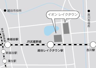 レイクタウン地図