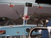 山陽自動車道の標高最高地点。雨はじきも雪には効かず