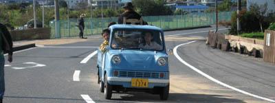 ホンダT360(2007年10月27日、広島市佐伯区五日市町石内での試走風景)