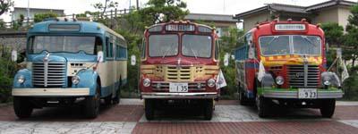 日野BH15・いすゞBX141・日野BA14の3台並び