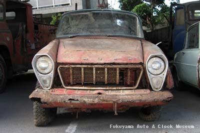 マツダB1500(BUB61)廃車体 館外展示場搬入状況 2010年7月18日撮影