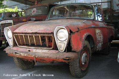 マツダB1500(BUB61)廃車体 館外展示場での保存状況 2010年7月21日撮影