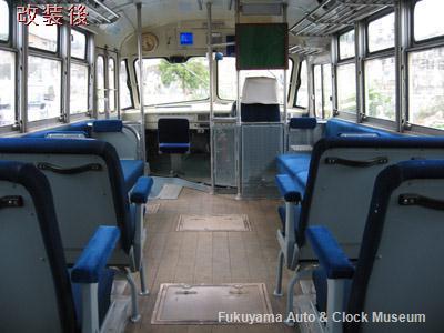 ボンネットバス・トヨタDB100 改装後の内観(2010年10月15日撮影)